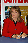 """Cast of Days Of Our Lives - Diedre Hall """"Marlena Evans"""" signs book """"Days Of Our Lives 50 Years"""" by Greg Meng - author & co-executive producer on October 27, 2015 at Books & Greetings, Northvale, New Jersey. (Photo by Sue Coflin/Max Photos)"""