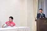 Koji Yamamuro (JPN), <br /> JULY 19, 2016 - Artistic Gymnastics : <br /> Japan Men's Artistic Gymnastics national team send-off press conference <br /> for the Rio 2016 Olympic Games in Tokyo, Japan. <br /> (Photo by AFLO SPORT)