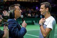 Februari 09, 2015, Netherlands, Rotterdam, Ahoy, ABN AMRO World Tennis Tournament, Grigor Dimitrov (BUL) - <br /> Photo: Tennisimages/Henk Koster