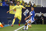CD Leganes' Gabriel Pires (r) and Villarreal CF's Mario Gaspar during La Liga match. December 3,2016. (ALTERPHOTOS/Acero)