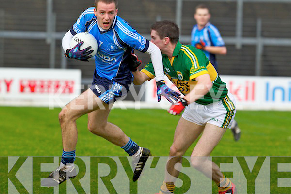 Marc O'Se Kerry in action against Michael Brosnan the IT Tralee in the preliminary round of the McGrath Cup at Fitzgerald Stadium on Saturday.