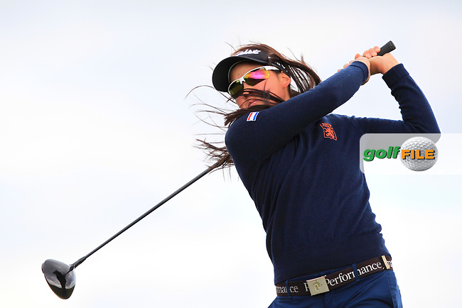 Zhen Bontan (NED) on the 8th tee during Round 3 Matchplay of the Women's Amateur Championship at Royal County Down Golf Club in Newcastle Co. Down on Friday 14th June 2019.<br /> Picture:  Thos Caffrey / www.golffile.ie