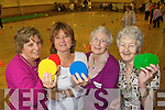 Shiela Quish, Tralee, Mary O'Connor, Spa, Margaret Murphy, Tralee and Eileen McCarthy, Spa. pictured at the older people's forum and north and East Kerry development physical activity event at the Brandon hotel on Friday.