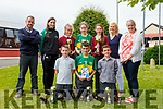 Pupils Duagh NS who for the first time ever won both the boys and girls county and Munster championships. From front l-r were: Karl Dillon (Teacher), Aine McKenna, Grace Morris, Megan Sheehy and Lucy Hogan. Back l-r were: Cormac Dillon, Jack O'Keeffe and Jack Moloney with principal Carmel Fitzgerald and teacher Grainne Keane.