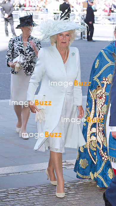 CAMILLA, DUCHESS OF CORNWALL<br /> joined The Queen and other members of the Royal Family for  A Service to Celebrate the 60th Anniversary of the Coronation Service at Westminster Abbey, London_04/06/2013<br /> Members of the Royal Family attending the Service included The Prince of Wales and The Duchess of Cornwall, The Duke and Duchess of Cambridge, Prince Henry of Wales, The Duke of York and Princesses Beatrice and Eugenie, The Earl and Countess of Wessex and The Lady Louise Mountbatten-Windsor, The Princess Royal, Vice Admiral Sir Tim Laurence, Peter Phillips and Autumn (Kelly) Phillips, Zara (Phillips) Tindall and Mike Tindall, The Duke and Duchess of Gloucester, The Duke and Duchess of Kent, Prince and Princess Michael of Kent