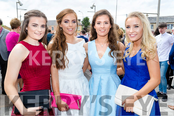 Pictured at Mounthawk Secondary School, Tralee, graduation Mass at Our Lady & St. Brendan's Church, Tralee on Friday afternoon last were l-r: Aoibheann O'Brien, Aoife O'Carroll, Rachel Moloney and Tracy O'Keeffe.