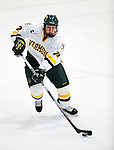 30 November 2009: University of Vermont Catamount defenseman Josh Burrows, a Junior from Prairie Grove, IL, in action against the Yale University Bulldogs at Gutterson Fieldhouse in Burlington, Vermont. The Catamounts shut out the Bulldogs 1-0 in a rematch of last season's first round of the NCAA post-season playoff Tournament. Mandatory Credit: Ed Wolfstein Photo