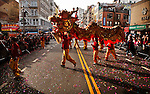 Chinese Lunar New Year parade of the Dragon in New York