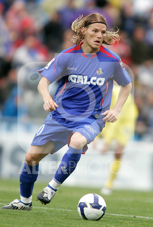 Getafe's Eugen Polanski during La Liga match, April 26, 2009. (ALTERPHOTOS/Alvaro Hernandez).