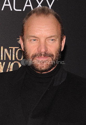 New York,NY-December 8: Sting Attends the 'Into The Woods' world premiere at the Ziegfeld Theater on December 8, 2014. Credit: John Palmer/MediaPunch