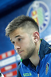 Getafe's Alvaro Medran in press conference after La Liga match. March 18,2016. (ALTERPHOTOS/Acero)