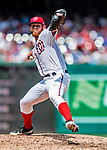 20 May 2018: Washington Nationals pitcher Stephen Strasburg on the mound against the Los Angeles Dodgers at Nationals Park in Washington, DC. The Dodgers defeated the Nationals 7-2, sweeping their 3-game series. Mandatory Credit: Ed Wolfstein Photo *** RAW (NEF) Image File Available ***