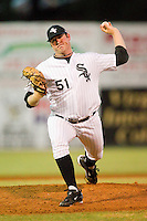 Relief pitcher Kevin Rath #51 of the Bristol White Sox in action against the Greeneville Astros at Boyce Cox Field July 2, 2010, in Bristol, Tennessee.  Photo by Brian Westerholt / Four Seam Images