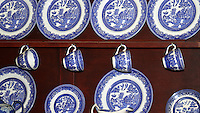Blue and White Crockery at the Shipreck Museum, Warrnambool