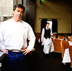 Executive Chef Mark Sullivan at Spruce Restaurant, a bistro in Presidio Heights, purveyor of Classic California cuisine.