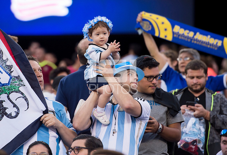 Foxborough, MA - June 18, 2016: Argentina defeated Venezuela 4-1 during the quarterfinals of the Copa America Centenario at Gillette Stadium.