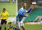 Hibs v St Johnstone.....11.02.13      SPL.Rowan Vine celebrates his second goal.Picture by Graeme Hart..Copyright Perthshire Picture Agency.Tel: 01738 623350  Mobile: 07990 594431