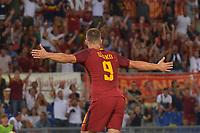 Esultanza dopo gol di Edin Dzeko Roma. Goal celebration.<br /> Roma 26-08-2017 Stadio Olimpico Calcio Serie A AS Roma - Inter Foto Antonietta Baldassarre / Insidefoto