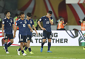 February 1st 2019; Adu Dhabi, United Arab Emirates; Asian Cup football final, Japan versus Qatar;  Players Japan disconsolate after their 1-3 loss to Qatar