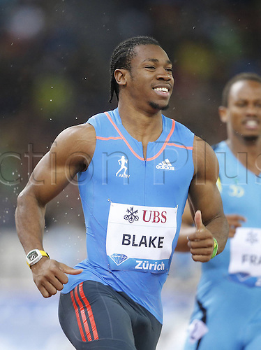 30.08.2012. Zurich, Switzerland.  IAAF Athletics Athletics Track and Field Samsung Diamond League 2012 Yohan Blake Jamaica 100m mens