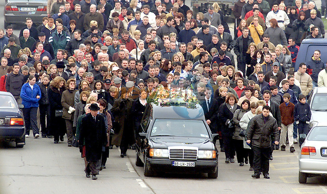 The funeral of Edward 'Ned' Reay, who was murdered in Drogheda in the early hours of Sunday morning, making it's way from Our Lady of Lourdes Church to Calvary Cemetery in Drogheda..NO BYLINE PLEASE