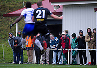 Fans watch the action during the Oceania Football Championship final (first leg) football match between Team Wellington and Lautoka FC at David Farrington Park in Wellington, New Zealand on Sunday, 13 May 2018. Photo: Dave Lintott / lintottphoto.co.nz