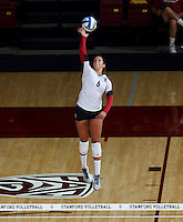 Stanford, CA; Wednesday September 18, 2013: Women's Volleyball, Stanford vs Cal Poly.