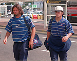 Marco Negri and Gennaro Gattuso at Glasgow airport heading away to a Iceland on a Champions League match for Rangers