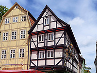 Fachwerkh&auml;user, Breite Star&szlig;e, Quedlinburg, Sachsen-Anhalt, Deutschland, Europa, UNESCO-Weltkulturerbe<br /> halftimbered houses at Breite Stra&szlig;e  in Quedlinburg, Saxony-Anhalt, Germany, Europe, UNESCO World Heritage