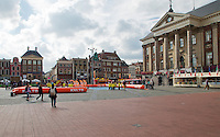 11-sept.-2013,Netherlands, Groningen,  Martini Plaza, Tennis, DavisCup Netherlands-Austria, Draw,   Street tennis on the market squire<br /> Photo: Henk Koster