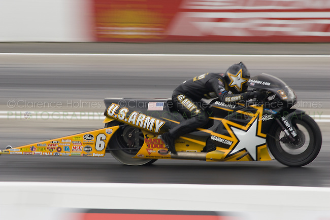 ENGLISHTOWN, NJ - JUNE 17: Antron Brown during Pro Stock Motorcycle Qualifying at the K&N Filters NHRA Supernationals at Old Bridge Township Raceway Park, Englishtown, New Jersey on June 17, 2006.
