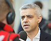 Sadiq Khan <br /> Mayor of London <br /> campaigns on rail fares and bringing commuter services under TfL control at Waterloo Station , London, Great Britain <br /> 3rd January 2017 <br /> <br /> <br /> Sadiq Khan <br /> Mayor of London <br /> gives an interview ro jason Rosam of BBC Radio London <br /> <br /> <br /> <br /> Photograph by Elliott Franks <br /> Image licensed to Elliott Franks Photography Services
