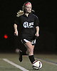 Suffolk Team No. 24 Danielle Caraturo moves the ball downfield during the first of two Long Island varsity girls' soccer senior all-star games against Nassau at Bethpage High School on Friday, November 27, 2015.<br /> <br /> James Escher