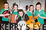 Foilmore Ceol Uirlise musicians  at the County Scor na bPaistí finals in the INEC on Sunday l-r: Aine O'Connor, Shannon O'Donnell, Maidhcí Caomhánach, Emma Sheehan and Céíti O'Sullivan