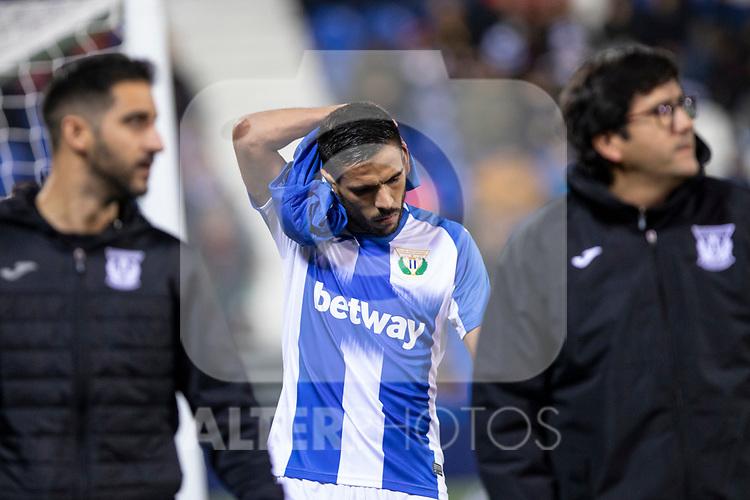 CD Leganes's  Marc Navarro injured during La Liga match 2019/2020 round 16<br /> December 8, 2019. <br /> (ALTERPHOTOS/David Jar)