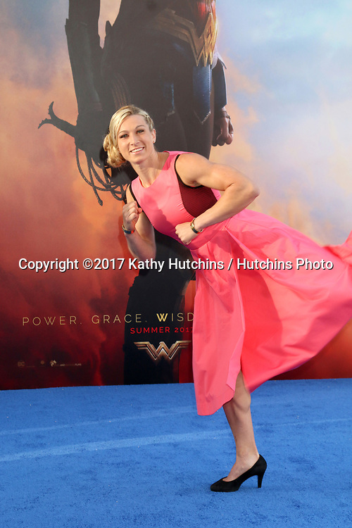 """LOS ANGELES - MAY 25:  Jessie Graff at the """"Wonder Woman"""" Los Angeles Premiere at the Pantages Theater on May 25, 2017 in Los Angeles, CA"""