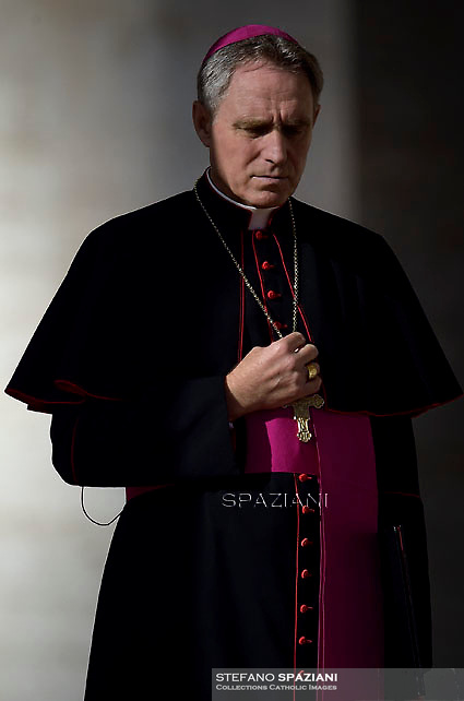 Monsignor Georg Gaenswein.Pope Francis  during his weekly general audience in St. Peter square at the Vatican, Wednesday.December 2, 2015.