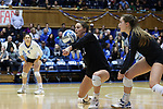 DURHAM, NC - NOVEMBER 24: Duke's Payton Schwantz (11). The Duke University Blue Devils hosted the University of North Carolina Tar Heels on November 24, 2017 at Cameron Indoor Stadium in Durham, NC in a Division I women's college volleyball match. Duke won 3-0 (25-21, 25-22, 25-20).