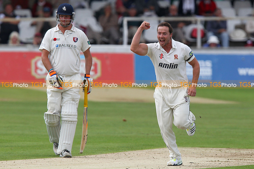 Graham Napier of Essex celebrates taking the wicket of Brendan Nash - Kent CCC vs Essex CCC - LV County Championship Division Two Cricket at the Spitfire Ground, St Lawrence, Canterbury, Kent - 12/09/13 - MANDATORY CREDIT: Gavin Ellis/TGSPHOTO - Self billing applies where appropriate - 0845 094 6026 - contact@tgsphoto.co.uk - NO UNPAID USE