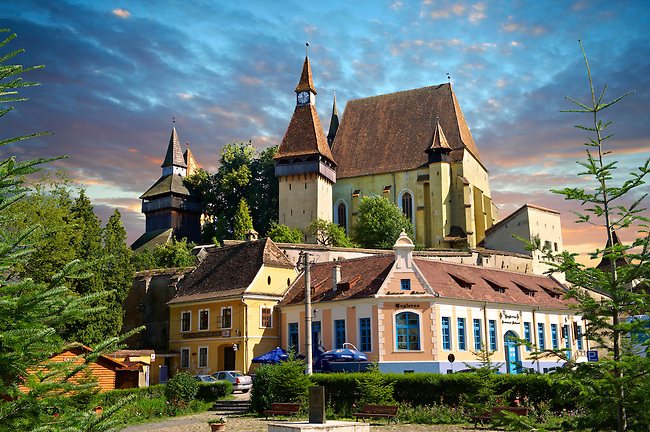 The fortified Saxon churchof Biertan , the see of the Lutheran Evangelical Bishop in Transylvania between 1572 and 1867. Unesco World Heritage Site