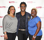 S. Epatha Merkerson, playwright Billy Porter and Lillias White attends the 'While I Yet Live' Meet & Greet at Primary Stages Rehearsal Studio on September 12, 2014 in New York City