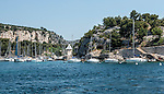 The Calanque de Port-Miou viewed from a tourist boat.