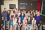 COUSINS: Cousins who celebrated their 18th and 21st Birthdays in the Soda Club, Killorglin on Saturday night, (seated 3rd from left), Nicole Morris Firies, 18th Birthday, and Helena O'Sullivan (21st) Miltown, (seated 4th from left)...