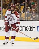 Chad Morin (Harvard - 25) - The Northeastern University Huskies defeated the Harvard University Crimson 3-1 in the Beanpot consolation game on Monday, February 12, 2007, at TD Banknorth Garden in Boston, Massachusetts.