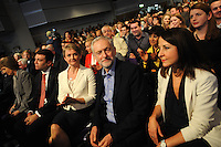 Labour Party Leadership Conference<br /> QE11 Centre, Westminster, London.Westminster<br /> Conference called to announce the results of the elections for position of Labour Party leader and deputy leader.<br /> <br /> Candidates for the position of Labour Party leader following news of the number of votes cast for Jeremy Corbyn.<br /> L-R Andy Burnham, Yvette Cooper, Jeremy Corbyn and Liz Kendall