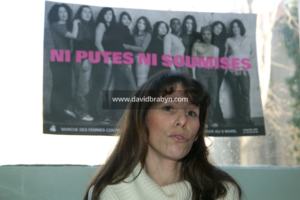 "Women's rights activist and head of ""Ni Putes, Ni Soumises"" organization Fadela Amara gives a press conference in Paris, France, 29 January 2004."