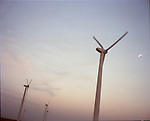 The windfarm in Roscoe is the 2nd largest in the world. Scenes around the town, cotton mill workers, etc.