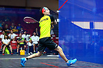 Ryunosuke Tsukue (JPN), <br /> AUGUST 27, 2018 - Squash : <br /> Men's Team Pool round <br /> at Gelora Bung Karno Squash Stadium <br /> during the 2018 Jakarta Palembang Asian Games <br /> in Jakarta, Indonesia. <br /> (Photo by Naoki Nishimura/AFLO SPORT)
