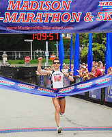Baraboo's Dan Sutton comes in first at the Madison Mini-Marathon on Saturday, 8/21/10, in Madison, Wisconsin