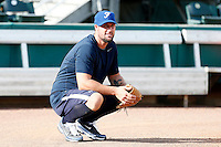 18 September 2012: France pitching coach and former MLB pitcher Eric Gagne is seen during Team France practice, at the 2012 World Baseball Classic Qualifier round, in Jupiter, Florida, USA.